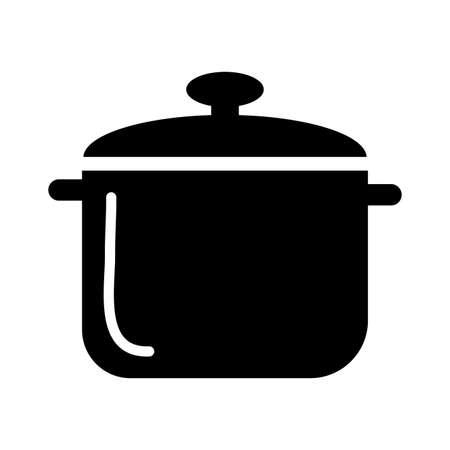 kitchen pot silhouette style icon vector illustration design
