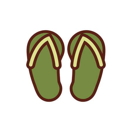 flips flops spa line and fill style vector illustration design Ilustración de vector