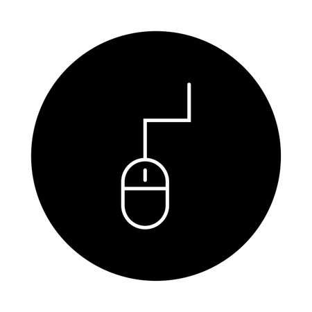 mouse computer device block and line style vector illustration design Illusztráció