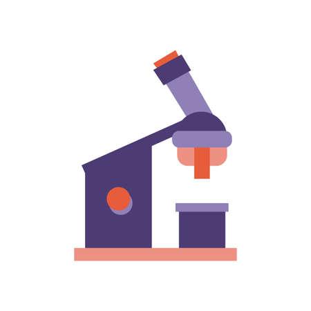 microscope laboratory flat style vector illustration design Illusztráció
