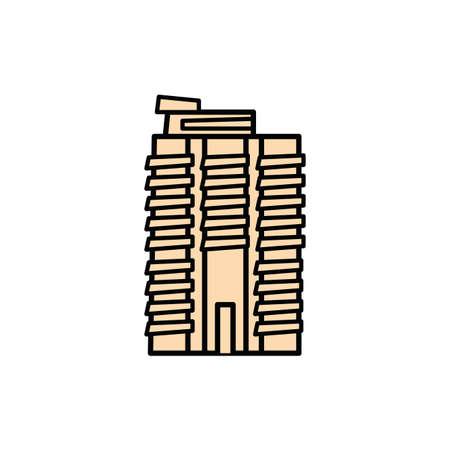 new york building fill style icon vector illustration design Ilustração