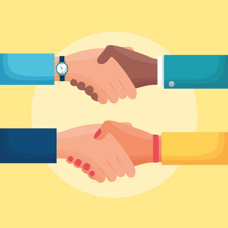 flat design diversity people business handshake vector illustration Stock fotó - 155009176