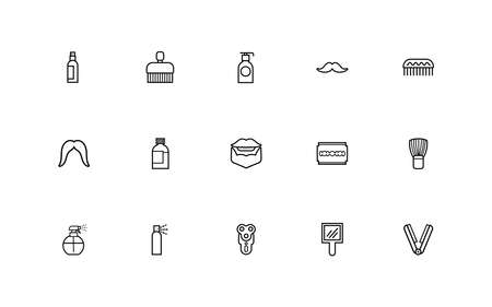 bundle of barber shop set line style icons vector illustration design Stock fotó - 155009190