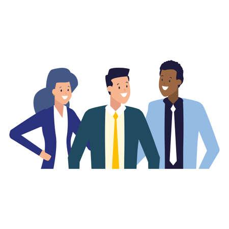 businessmen and woman group team work vector illustration Stock fotó - 155009975