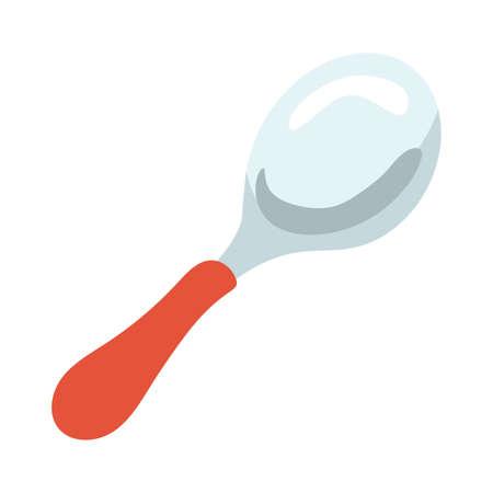 kitchen spoon utensil hand draw style vector illustration design