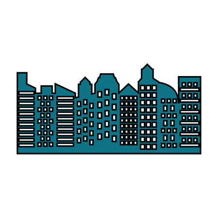 City design, Building architecture urban modern downtown and metropolis theme Vector illustration