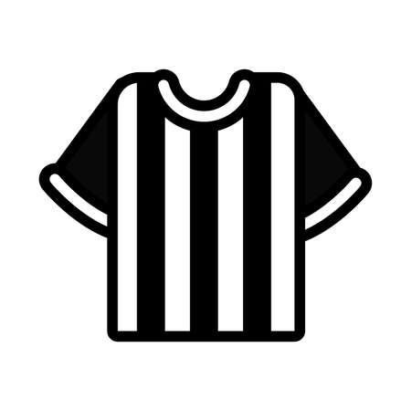 soccer sport referee shirt line icon vector illustration design
