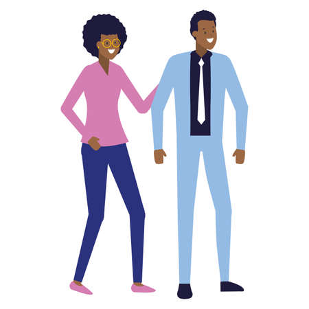 business man and woman characters vector illustration Stock fotó - 154999830