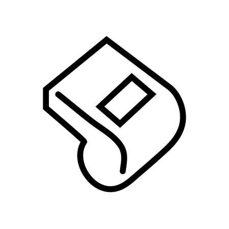 soccer sport referee whistle line icon vector illustration design