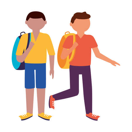 Traveler men design, trip airport vacation journey holiday transport and voyage theme Vector illustration Stock Illustratie
