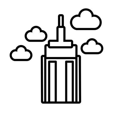 skyscraper building line style icon vector illustration design Ilustração