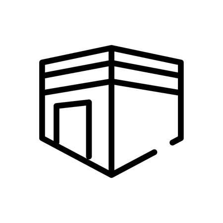 ramadam kareem temple line style icon vector illustration design Vektorgrafik
