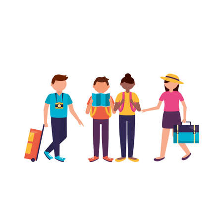 Traveler people design, trip airport vacation journey holiday transport and voyage theme Vector illustration Stock Illustratie