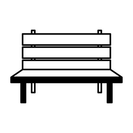 outline bench park on white background vector illustration Иллюстрация