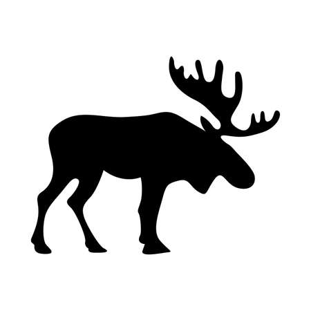 Reindeer silhouette design, Animal zoo life nature and character theme Vector illustration