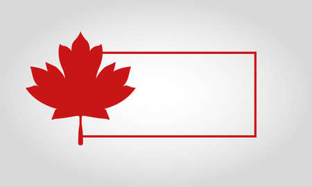 Frame with canadian maple leaf design, Happy canada day holiday and national theme Vector illustration