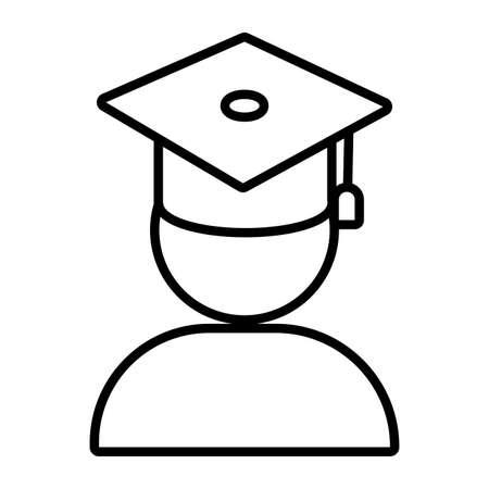 student graduated line style icon vector illustration design