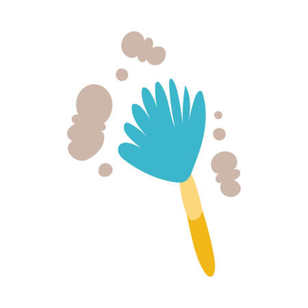 duster cleaner tool flat style vector illustration design