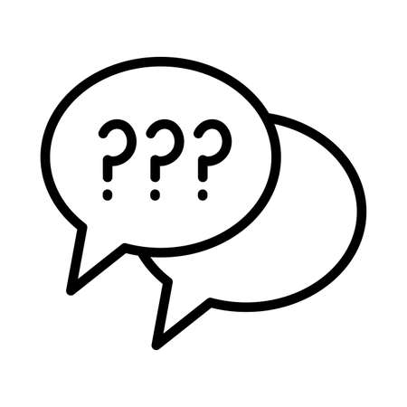 speech bubbles with question symbol line style icon vector illustration design