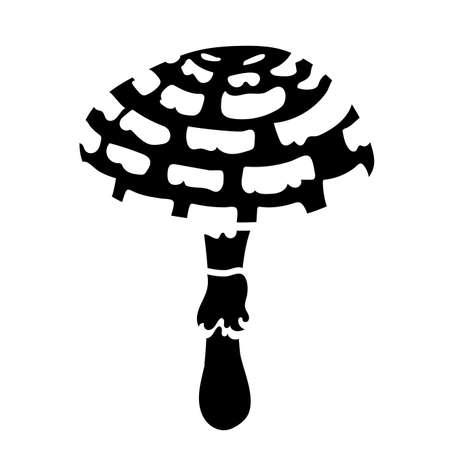 fungus plant galerina marginata silhouette style vector illustration design