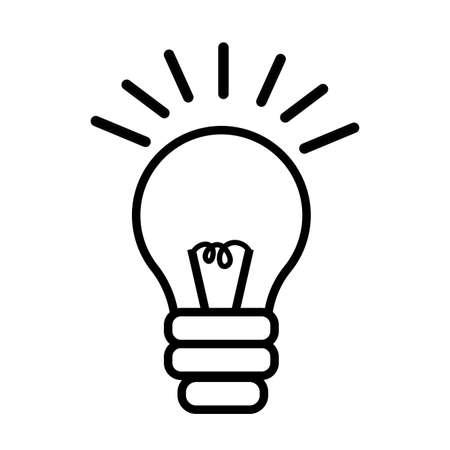 bulb light line style icon vector illustration design