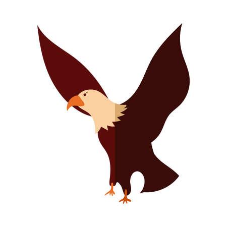 eagle bald usa flat detailed style vector illustration design Vectores