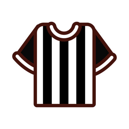 soccer sport referee shirt line and fill icon vector illustration design