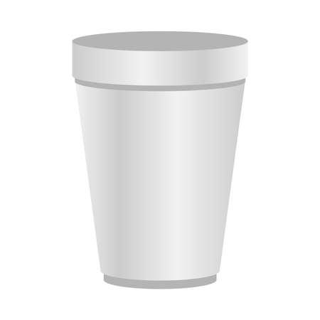 Mockup coffee mug design of corporate identity template and branding theme Vector illustration