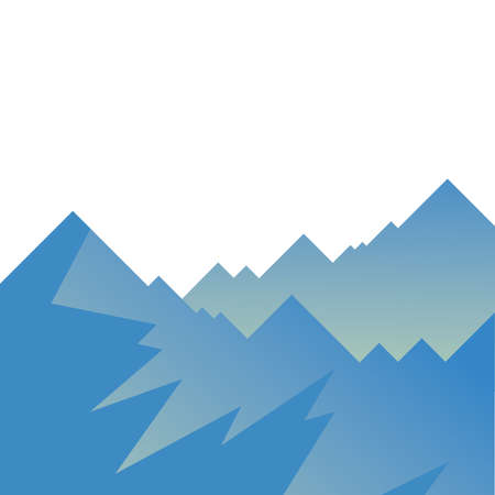 blue mountains design, Landscape nature earth eco ecology conservation bio environment and outdoor theme Vector illustration