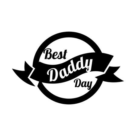 happy fathers day frame with ribbon line style vector illustration Stock fotó - 155371474