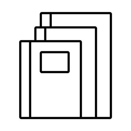 pile textbooks school line style icon vector illustration design
