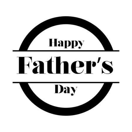happy fathers day seal line style icon vector illustration