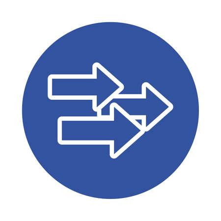 arrows index block style icon vector illustration design Stock fotó - 155372645