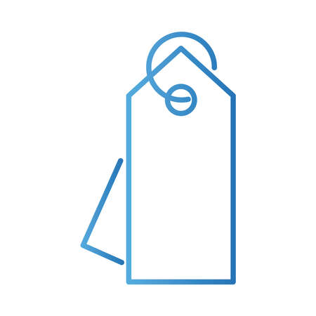 commercial tag gradient style icon vector illustration design Illusztráció