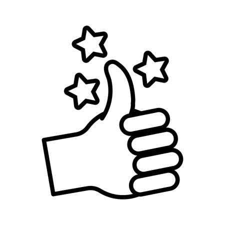 hand like symbol line style icon vector illustration design