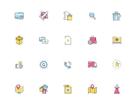 bundle of commercial set icons vector illustration design Illusztráció