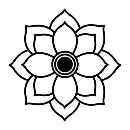 indian lotus flower nature icon vector illustration design Vettoriali
