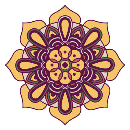decorative floral mandala with white background vector illustration design 向量圖像