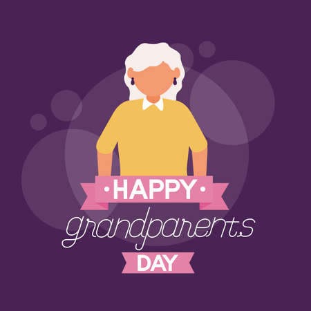 grandmother character - happy grandparents day vector illustration