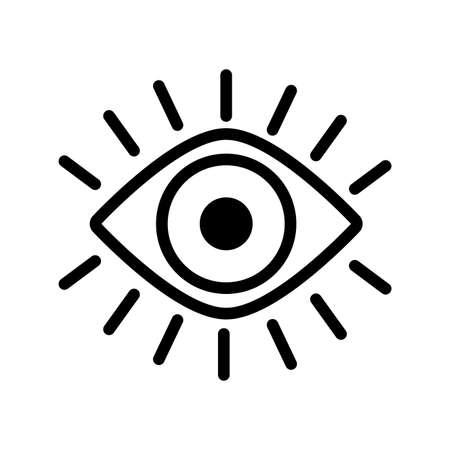 eye human organ line style icon vector illustration design