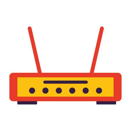 router internet on white background vector illustration