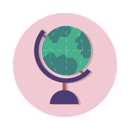 world planet earth school accessory line and fill style vector illustration design Иллюстрация