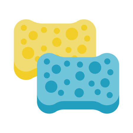 clean sponge flat style icon vector illustration design