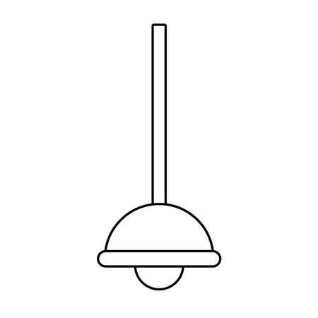 lamp light hanging line style icon vector illustration design