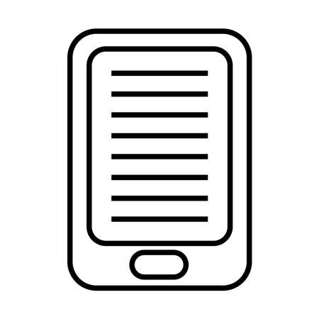 ebook technology in tablet line style icon vector illustration design