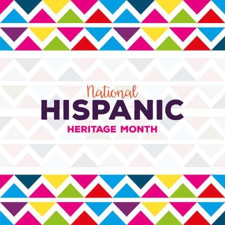 background, hispanic and latino americans culture, national hispanic, heritage month vector illustration design