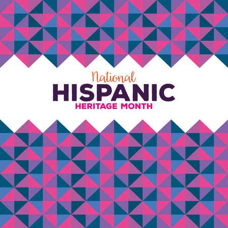 background, hispanic and latino americans culture, heritage month national hispanic vector illustration design