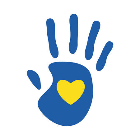 down syndrome heart on hand flat style icon design, disability support and solidarity theme Vector illustration Stock fotó - 155566809