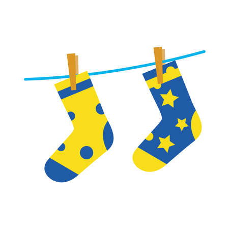 down syndrome socks flat style icon design, disability support and solidarity theme Vector illustration Stock fotó - 155566901