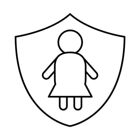down syndrome woman person in shield line style icon design, disability support and solidarity theme Vector illustration Stock fotó - 155567088